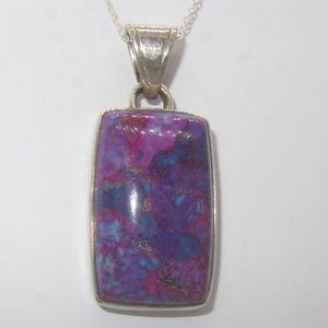 Jewelry - Vintage Sterling Purple Necklace